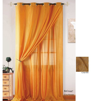 """""""Double"""" Curtain With Rings (2 Pieces) 140X260 cm."""