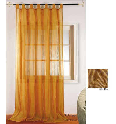 """""""Double"""" Curtain With Loops (2 Pieces) 200X260 cm."""