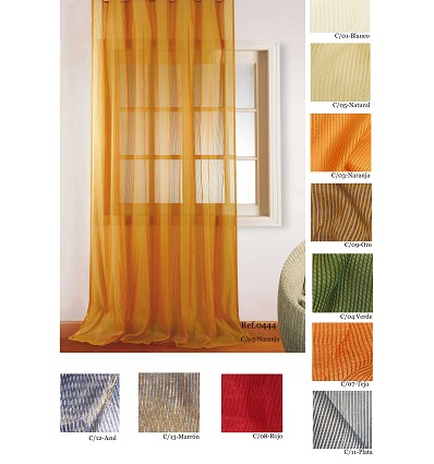 """""""Double"""" Curtain With Rings (2 Pieces) 200X260 cm."""