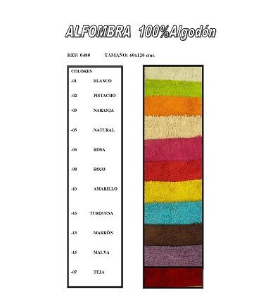 Tappeto 100% Cotone (1 Pezzo) 60X120 cm.