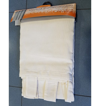 Canvas Curtain With Loops (1 Piece) 250X260 cm.