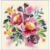 """""""Fleurs"""" Coussin Une Face (1 Pièce) 45X45 cm."""
