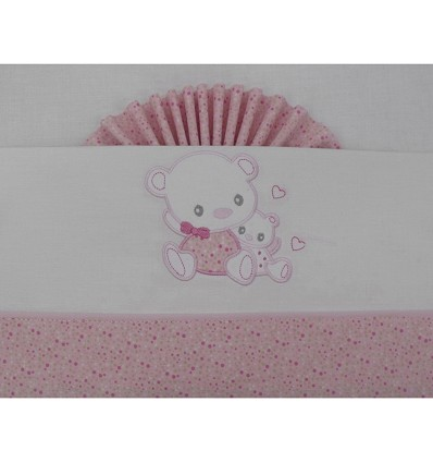 """Crib Sheets """"Teddy"""" 100% Cotton (3 Pieces) Large"""