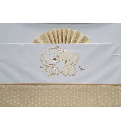 "Bed Sheet ""Teddy + Star"" 100% Cotton (3 Pieces) Small"