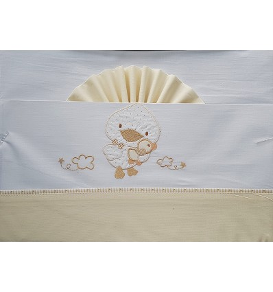 """Bed Sheet """"Duckling"""" 100% Cotton (3 Pieces) Small"""