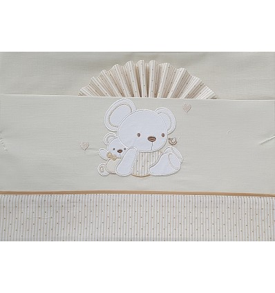 """Bed Sheet """"Teddy"""" 100% Cotton (3 Pieces) Large"""