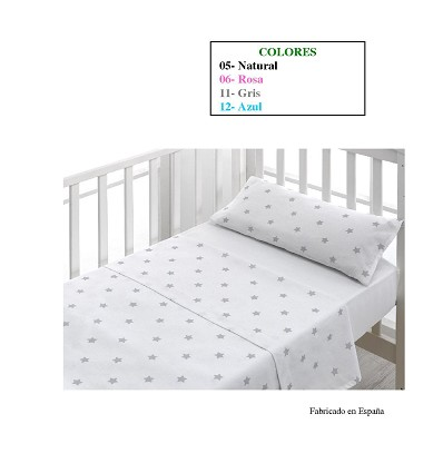 "Crib Sheets ""Star"" 100% Cotton (3 Pieces) Small"