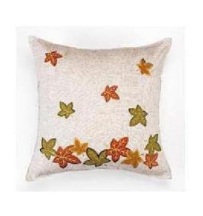 Embroidered Linen Cushion 45X45 cm.