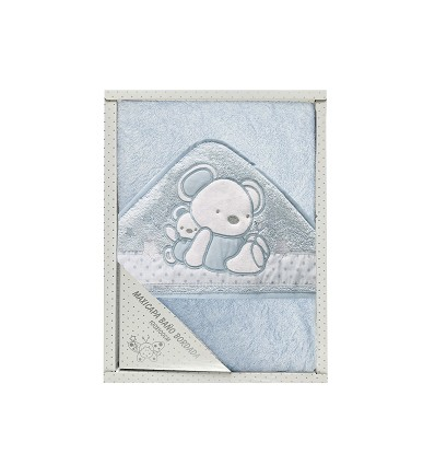 Embroidered Terry Hooded Towel 100% Cotton 100X100 cm.