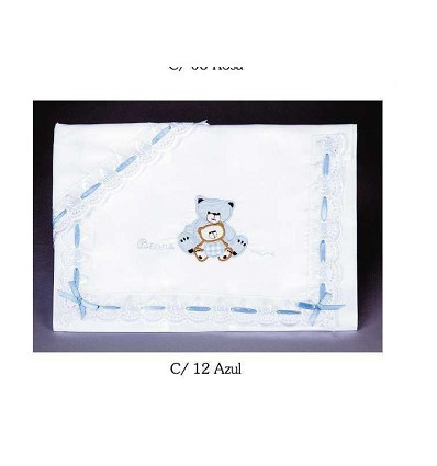 """Crib Sheets """"Teddy"""" Embroidered Strip 100% Cotton (3 Pieces) Small"""