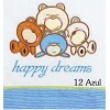 """Crib Sheets Embroidered """"Teddy"""" 50/50% (3 Pieces) Large"""
