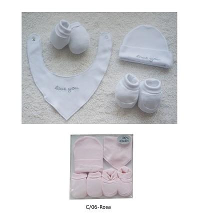 Gift Set 100% AlgodãO (4 Peças) Liso