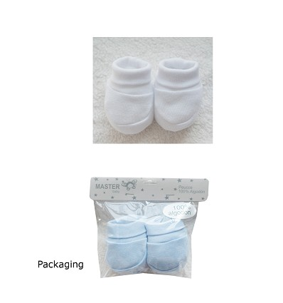 Smooth Bootees (2 Pieces) 100% Cotton