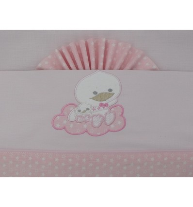 """Bed Sheet """"Duckling"""" 100% Cotton (3 Pieces) Large"""