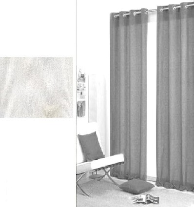 """Curtain """"Ibiza Ii"""" With Loops (2 Pieces) 60X120 cm."""