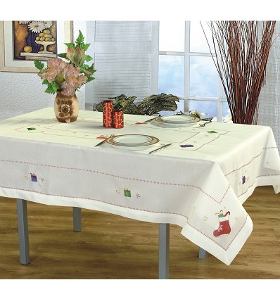 Embroidered Christmas Tablecloth 145X300 cm.