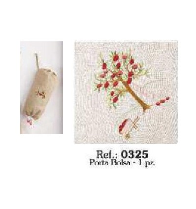 Embroidered Linen Carrier Bags