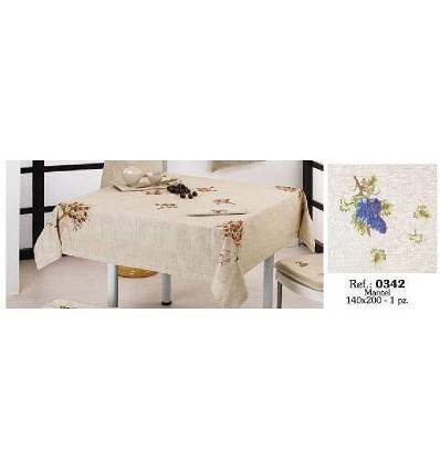 Embroidered Linen Tablecloth 140X200 cm.