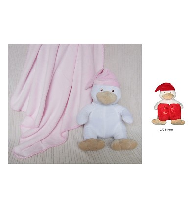 """Blanket """"Coral"""" + Toy 90X75 cm. (2 Pieces)"""