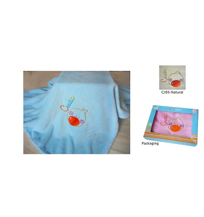 """Embroidered Blanket """"Coral"""" 90X75 cm."""