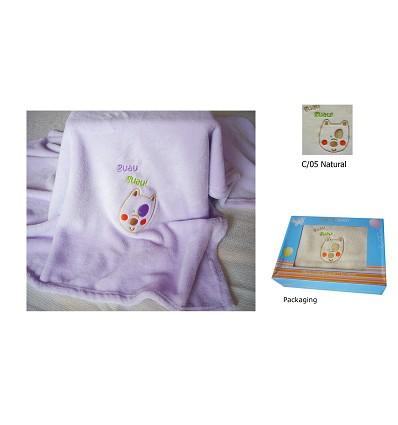 "Cobertor ""Coral"" Bordada 90X75 cm."
