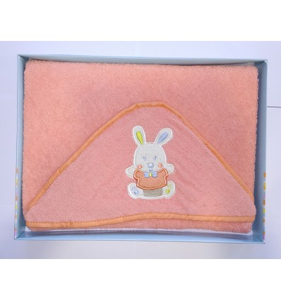 Embroidered Terry Hooded Towel 100X100 cm.
