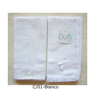 Embroidered Chiffon 100% Cotton (2 Pieces) 50X50 cm.