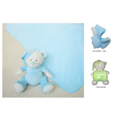 Cobertor + Brinquedo 90X75 cm. (2 Peças)