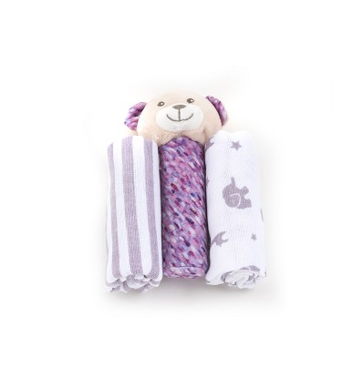 Set Chiffons + Toy (3 Pieces)