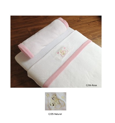 """Embroidered Blanket """"Coral"""" (1 Piece) 90X75 cm."""