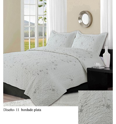 Embroidered Bedspread Bouti (2 Pieces) 180X260 cm.