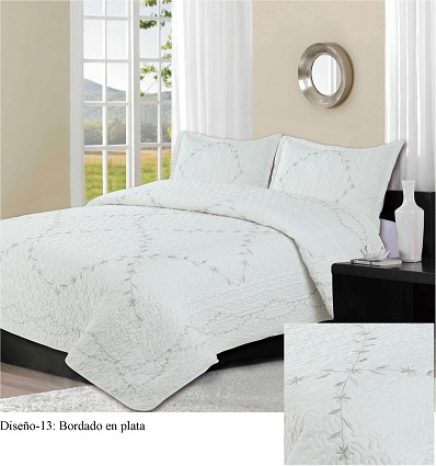Embroidered Bedspread Bouti (3 Pieces) 235X260 cm.