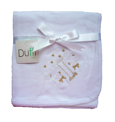 Embroidered Blanket 100% Cotton 70X70 cm.