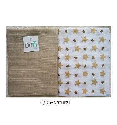 """""""Soft"""" Blankets 90X75 cm. (2 Pieces) 100% Cotton"""