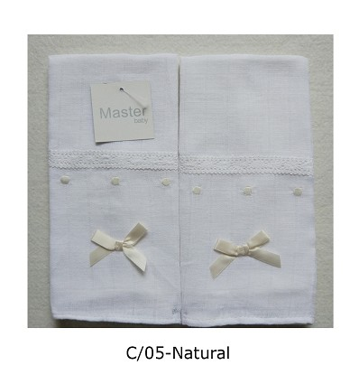 Chiffon Embroidered Lingerie (2 Pieces) 45X45 cm.