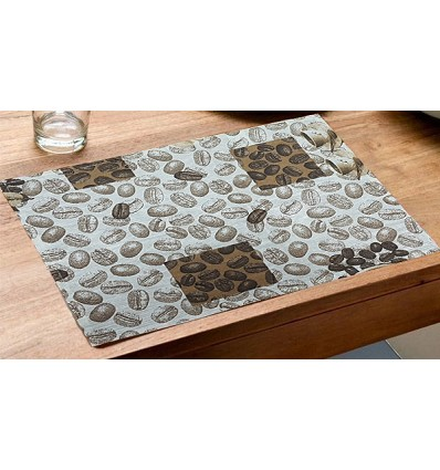 Printed Stain-Resistant Table Mat 30X45 cm.