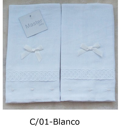 Embroidered Chiffon 100% Cotton (2 Pieces) 45X45 cm.